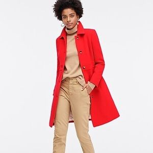 NWT J.crew lady day coat red thinsalute